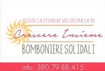 Bomboniere Solidali di Associazione Crescere Insieme Charitable Favors / Bomboniere Solidali realizzate (e realizzabili) dell'Associazione di Volontariato Crescere Insieme - Termini Imerese    crescereinsieme94@yahoo.it