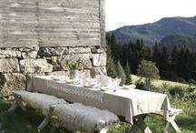 Al fresco } Ideas / Style ideas for dining in your garden