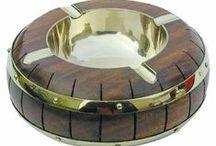 Maritime Aschenbecher / Dekorative maritime Aschenbecher aus Messing/ Kupfer/ Glas und Holz. als schöne Geschenkidee oder  Dekoration für die eigenen vier Wände