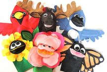 Puppets / For the Love of Puppets!  Puppets are wonderful for creative play and communication for and with kids!