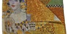 Art accessories and fahion / Obras de arte estampadas en diferentes tejidos.