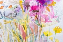 Paintings that could turn into beautiful silk scarves / Working with artists to produce silk scarves from their artwork, I have acquired an eye selecting and adapting paintings for that purpose. This is a selection of artworks found around the web that I think would make stunning silk scarves.