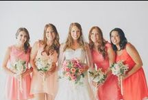 Coral Weddings / Whether you're at the beach or in the country, the color coral can brighten up the day