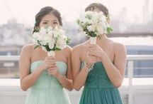 Mint + Green Weddings / Mint is the refreshing color that is popular for weddings all year long.