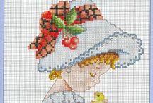 Cross stitch children