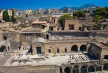 Ercolano - Herculaneum / It lies at the western foot of Mount Vesuvius, on the Bay of Naples, just southeast of the city of Naples. The medieval town of Resina - read Resìna - was built on the volcanic material left by the eruption of Vesuvius (AD 79) that destroyed the ancient city of #Herculaneum, from which the present name is derived. #Ercolano is a resort and the starting point for excursions to the excavations of Herculaneum and for the ascent of Vesuvius by bus.