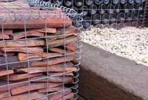 Gabion Baskets for Gardens / Inspiration for using Galvanised Steel Gabions in your garden