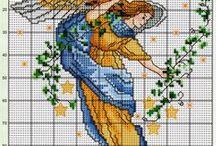 Angels cross stitch