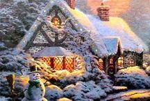 ART THOMAS KINKADE CHRISTMAS