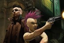 = Run into the Shadows = / Illustrations of Shadowrun, inspired by Shadowrun and Cyberpunk.