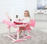 Height Adjustable Desk for Kids Sprite Pink Table for Girls
