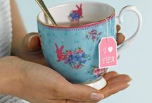 Sweet As Candy Teaware / Vibrant colours and playful designs make the Candy Collection the perfect combination for any fashion follower.  Inspired by the rich heritage of the Royal Albert archive, with a unique twist the fun and frivolous new Candy Collection has four unique designs: Honey Bunny, Love Lilac, Sitting Pretty and Sweet Stripe.