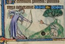 illumination - women hunting / Images from medieval/rennaissance times of women hunting