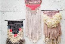 Tapestry, weaving, macrame