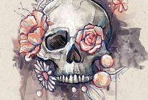 Skull, skull, skullllllllz... / Pleins de la tête de moooort ! / by Jenny Sioux