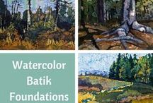 Online Courses / Artis Krista Hasson offers online courses in watercolor batik on paper , watercolor and oil.