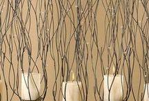 Velas Decorativas / Sugestão para você usar velas na decoração de sua casa. Velas, bandeja de madeira, esferas artesanais