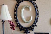 Decoração com Letras. / Decore sua casa com letras e nomes. Está super em alta e seu ambiente fica com a sua cara!!!