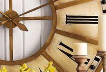 Relógios gigantes na decoração, são o máximo! / Acessórios de grandes dimensões para a casa, como enormes relógios. São a tendência do momento!