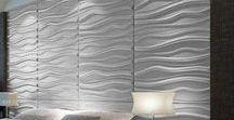 Revestimentos de parede / Usar revestimento em pelo menos uma das paredes da casa da um charme todo especial ao ambiente e ficam super atuais.