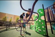 School Playground Ideas! / From kids in preschool to upper elementary school, all children can benefit from regular time outside — and that's why playground equipment is so important! Rather than standard, one-size-fits-all solutions, we provide customized designs that encourage physical, mental and emotional development for kids.