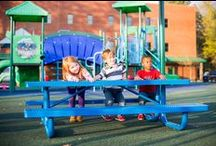 Child Care Playground Ideas! / Give the kids at your school or community center new ways to learn and develop by adding a strategically designed commercial play environment to your site! In early childhood development especially, play is an incredibly important part of how kids grow. As they climb, jump, slide and swing with friends, they'll be doing more than having fun — they'll also be growing key mental, social, physical and emotional skills.
