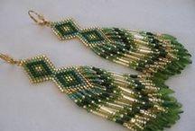 Bead Earrings - Native American Style