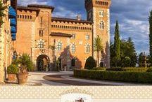 Castello di Spessa Golf & Wine Resort / Legato a nobili casate e illustri ospiti come Giacomo Casanova, il Castello di Spessa si trova nel cuore del Collio Goriziano, a Capriva del Friuli, ed è completamente circondato dalle vigne della tenuta, fra cui si snodano le 18 buche del Golf Country Club Castello di Spessa. Le sue origini risalgono al 1200. Ospita oggi 15 eleganti suites arredate con mobili del'700 e dell'800 italiano e mitteleuropeo.