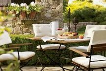 Outdoor Living & dining spaces-Porches, Patios, Decks & Backyards / by Cheryl Linford - Urban Cottage Interior Designer