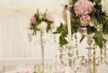 decor: candelabra / wedding flower inspiration using candelabra