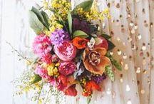 colour: pop of colour / pop of colour inspiration for wedding flowers