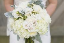 colour: white / wedding flower inspiration using all white flowers