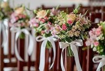decor:  aisle / inspiration for floral pew ends and aisle decor