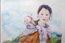 mis acuarelas: retratos, naturaleza ,animales ... / encontrara más trabajos mios en  http://patriciaschaan.blogspot.com.es/