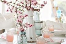 table: spring / inspiration for spring flower table decor