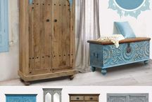 """meble indyjskie """"Indian Summer"""" / meble indyjskie w stylu kolonialne. Orientalne kolorowe meble z Indii. Rzeżbione meble drewniane ręcznie."""