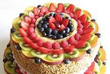 Torte decorate con la frutta