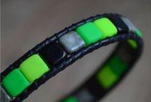 Dvoudírkové Tile korálky - 2-hole Tile Beads / Dvě dírky více možností.