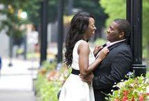 Woodruff Park Engtagement Session / Engagement photography session at Woodruff Park in Atlanta GA