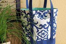 Bolsas de tecido / Bolsas de tecido Fabric handbags