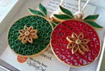 Quilling - Vánoce, Zima - Christmas, Winter / Jednoduché barevné proužky papíru se mohou proměnit v okouzlující dekoraci.