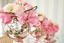 decor: mercury glass / wedding decor inspiration featuring mercury glass accessories