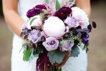 colour: purple and lilac / wedding flower inspiration in purple and lilac