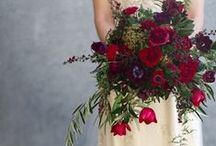 colour: red / wedding flower inspiration using red
