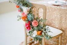 decor: chairs / Wedding chair floral inspiration and ideas