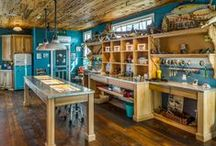 Custom Tackle Shack / This unique space combines a homeowner's love for fishing and her desire for luxury living. The Tackle Shack was designed as a fully functional space to prepare freshly caught fish and display the homeowner's collections of rods and antique fishing lures.