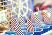 Nautical Party / Great decor, snack and party favours for a nautical / sailor themed kid or adult party.