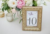 decor: table numbers / Floral wedding table number inspiration