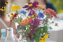 table: wildflower / rustic wildflower wedding table inspiration