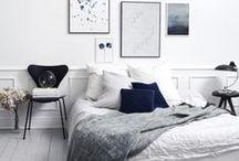 Slaapkamer ❥ Scandinavisch / Puur, eenvoud en natuur.